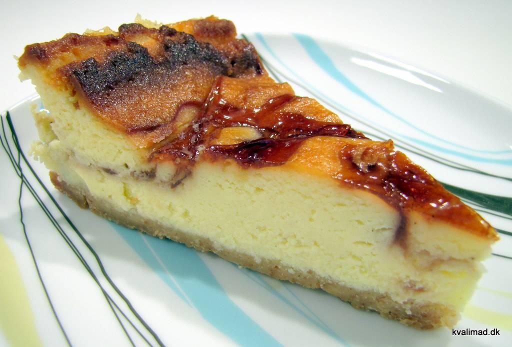 Manhatten style amerikansk cheesecake - www.kvalimad.dk